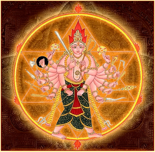 The personification of Sudarśana Chakra the Lord's ultimate weapon, shaped like a wheel