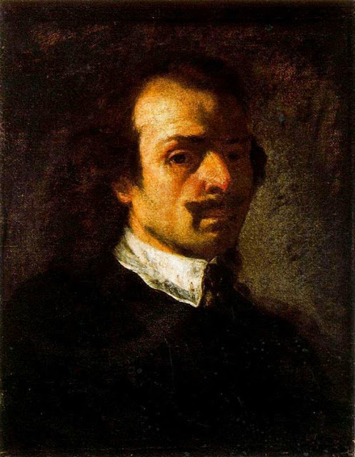 Pier Francesco Mola, Self Portrait, Portraits of Painters, Francesco Mola, Fine arts, Painter Pier Francesco Mola