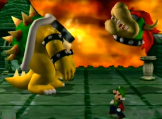 Luigi's Mansion final boss Bowser headless floating head detached from body decapitated