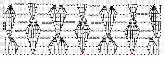 Crochet PATRON CUERPO Blusa de corazones muy fácil y sencilla. MAJOVEL CROCHET