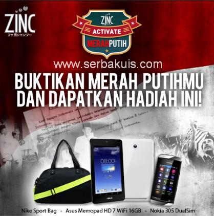 Zinc Activate Merah Putih Berhadiah ASUS Memo Pad HD 7 Wifi