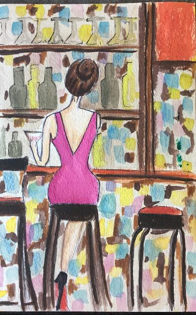 Sprinkle On Glitter Blog// girl at bar