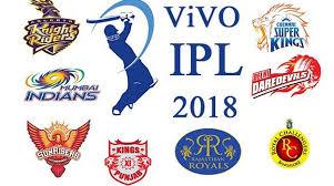 IPL 2018 Matches Schedule