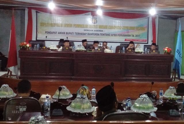 DPRD Sahkan APBD Perubahan TA 2017, Kabupaten Kepulauan Selayar