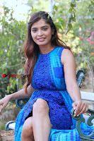 Tamil Actress Sanchita Shetty Latest Pos in Blue Dress at Yenda Thalaiyila Yenna Vekkala Audio Launch  0016.jpg