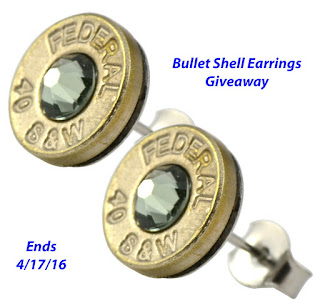 Enter the Bullet Shell Earrings Giveaway. Ends 4/17