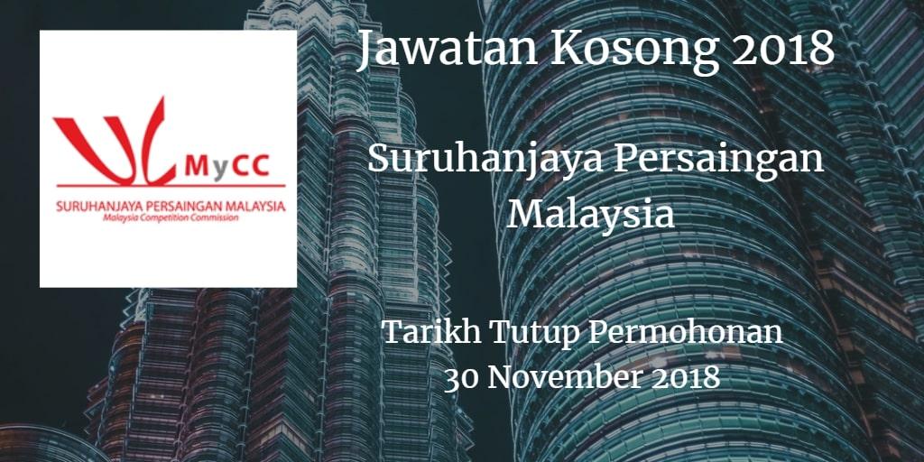 Jawatan Kosong MyCC 30 November 2018