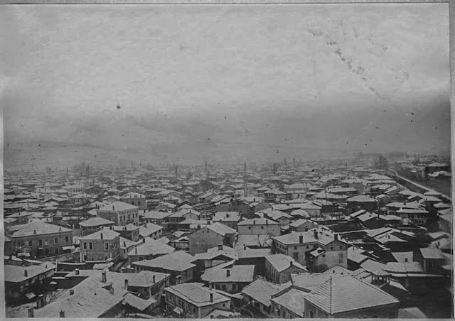 Bitola under snow – January 1917 - Panoramic photo taken from Bitola Clock Tower – view toward west