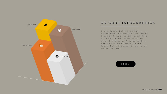 3D CUBE Infographic Elements for PowerPoint Slide 8