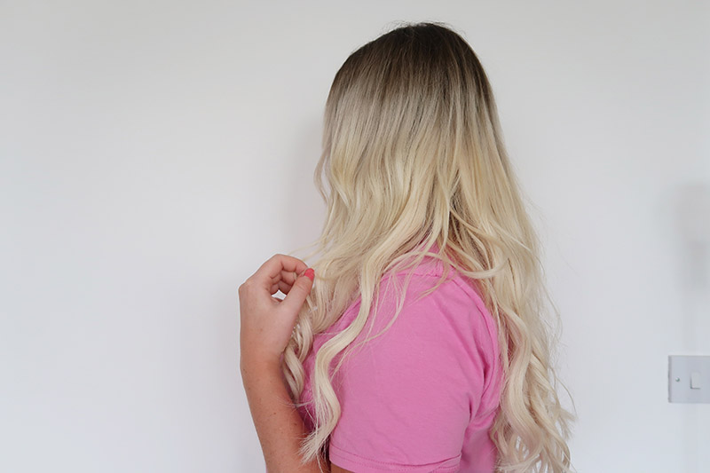 pre bonded hair extensions before and after blonde vivid Northampton