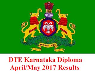 DTE Karnataka Diploma Results April/May 2017