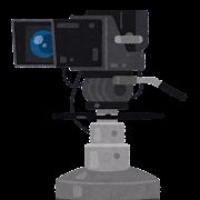 テレビカメラのイラスト
