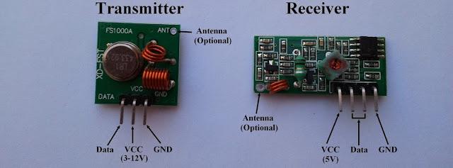 433MHz 315 MHz transmitter receiver