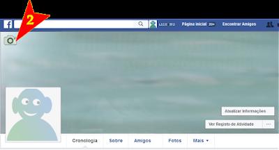 colocar capa de perfil do Facebook passo 2