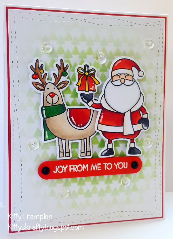 Making Cards Magazine Part - 43: For This Card I Used The Merry Everything Stamps By My Favorite Things  Along With The Matching Die-namics Dies. I Coloured Them Using My Copic  Markers And ...