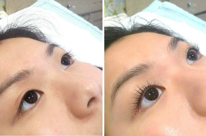 How to curl straight short asian eyelashes LVL Enhance lash treatment blog review before and after pictures