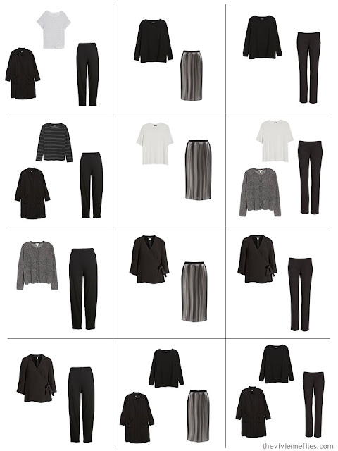 12 outfits from a 10-Piece Common Wardrobe