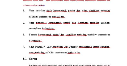 Contoh Skripsi Bab 5 Kesimpulan Dan Saran Teknik Informatika Mas