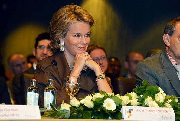 Princess Mathilde of Belgium visited the Koninklijk Atheneum/Centrum Leren en Werken school in Leuven