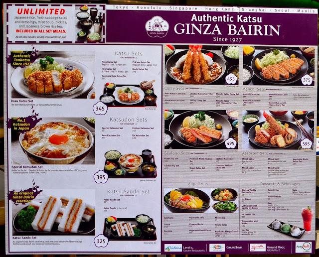 Ginza Bairin Trinoma Ginza Bairin Has Many More