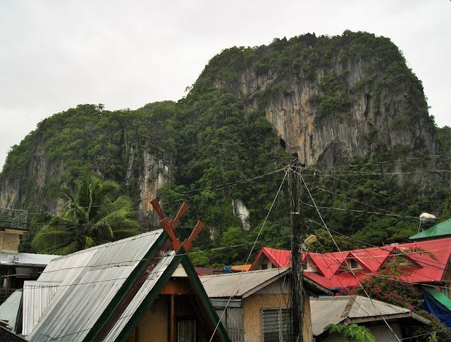 El Nido, Filipinas. Paredes de la vía ferrata