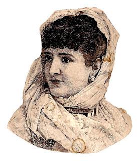 fashion antique women scarf image printable