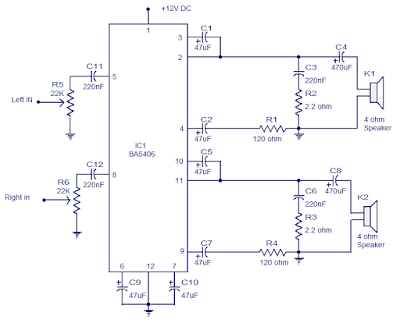 Amplifier Circuit With Ba5406 Amplifier Circuit Schematic Projects