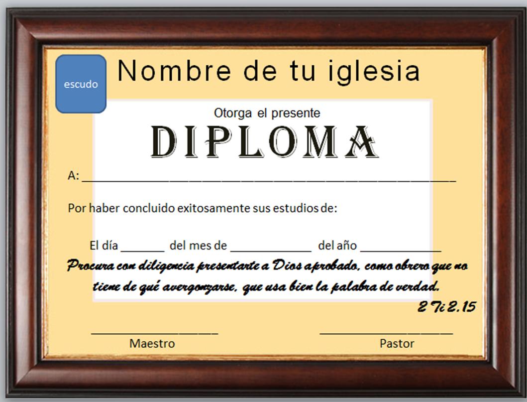 Iglesia Mar Abierto Diplomas Cristianos Para Descargar Gratis
