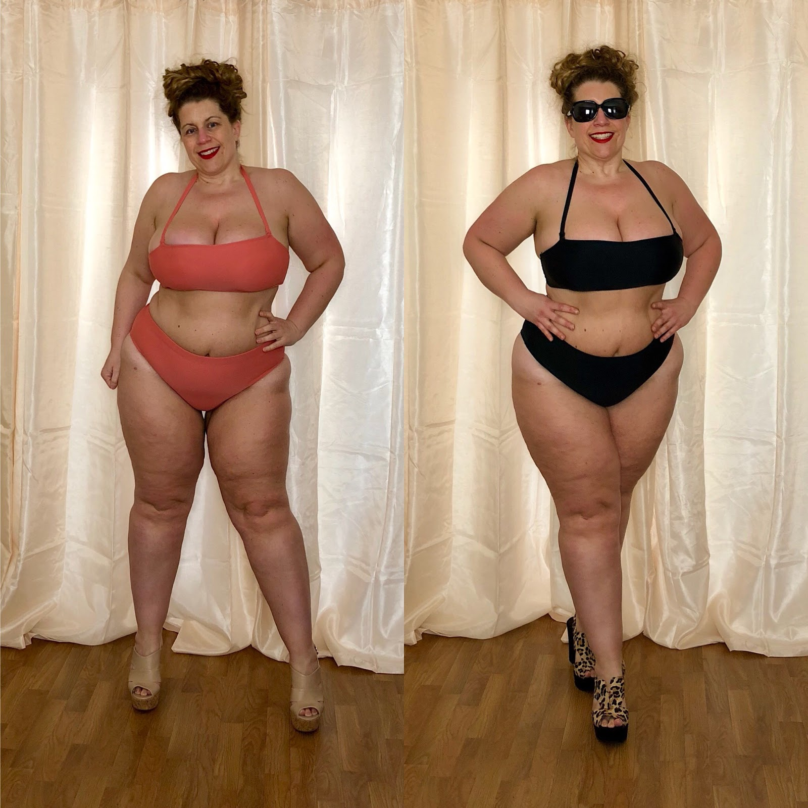 5584f41d4e Forever 21+ Swimwear 2018: Plus Size Salmon/Black Bikini Top and ...