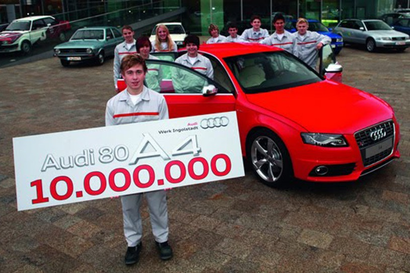 Audi celebrates 10 million midsize cars