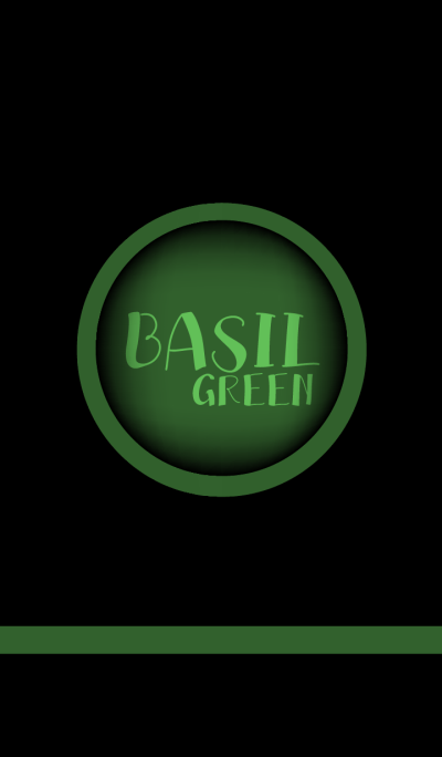 Basil Green and Black theme