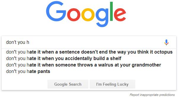 Finish my sentence