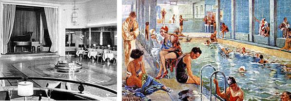 Tanzsalon der Bremen und indoor pool
