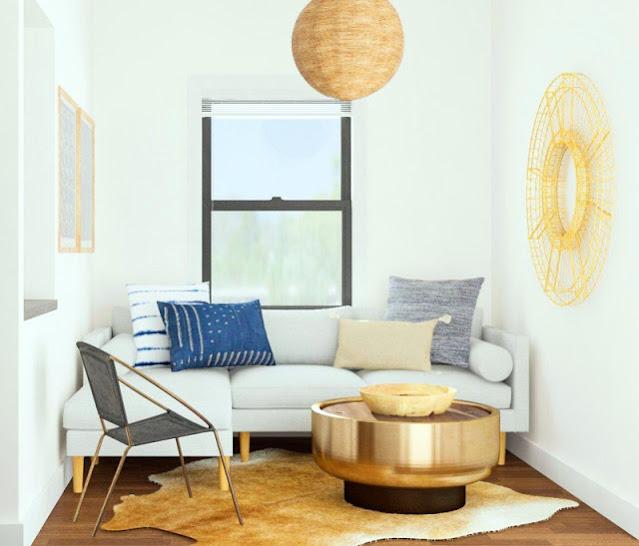 cara mengatur desain ruang tamu yang sempit