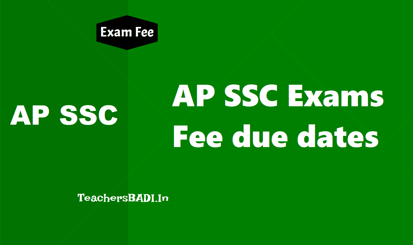 AP SSC 2019 Exams Fee due dates / Schedule, How to pay at