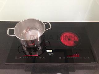 Hình ảnh thực tế: Bếp điện từ Napoliz NA388IC - Anh Thành Xuân Mai Complex Dương Nội - Hà Nội