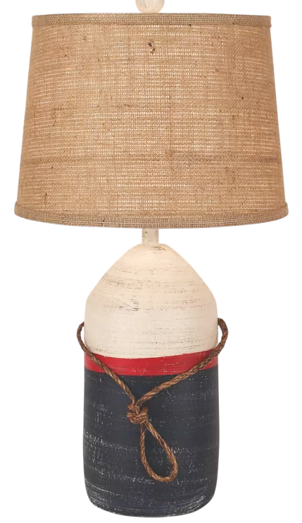 Nautical Buoy Blue Red Table Lamp