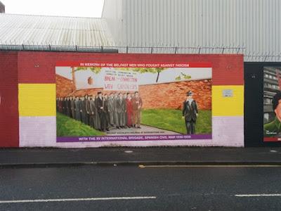 Mural irlandeses Guerra Civil española