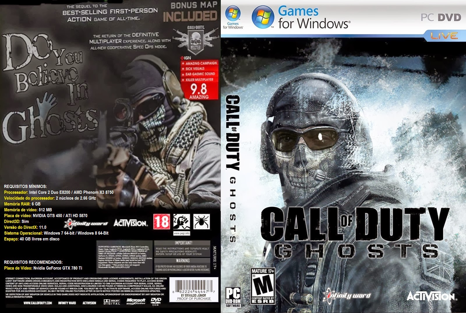 Call of Duty Ghosts PC DVD Capa