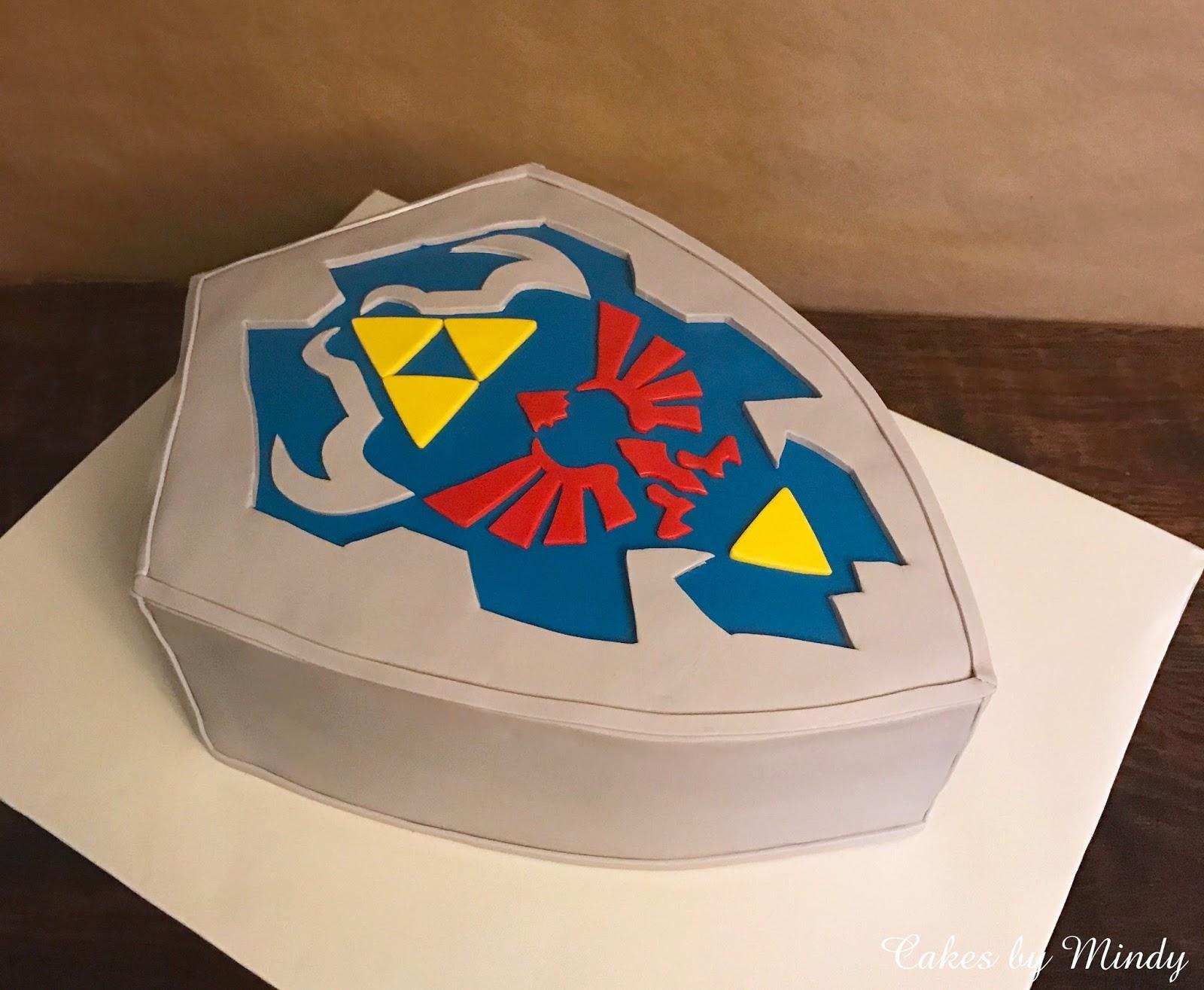 Strange Cakes By Mindy Legends Of Zelda Shield Cake Funny Birthday Cards Online Elaedamsfinfo