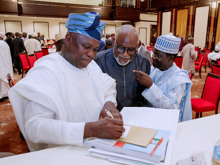 APC Primary: Ambode, Oshiomhole, Govs In Serious Meeting