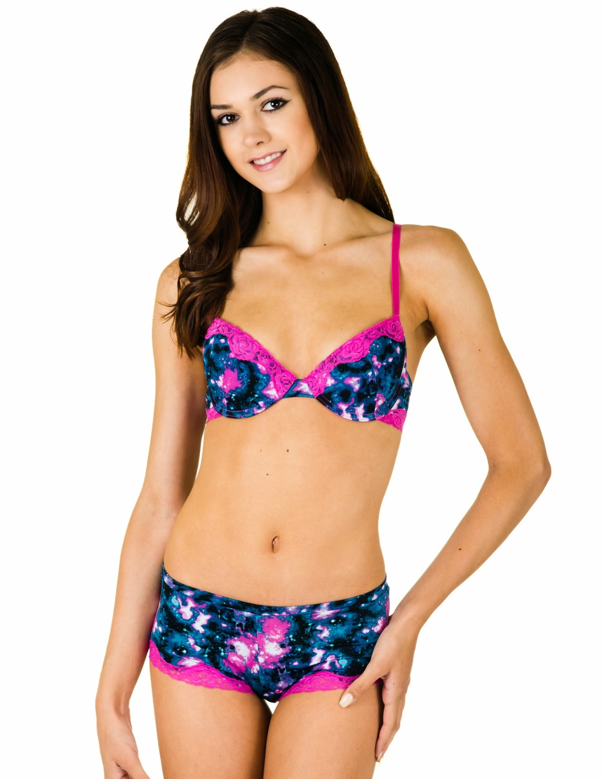 90c0878176 These matching bra and panty sets are so cute and more importantly soooo  comfortable! The bra gives you an amazing push up