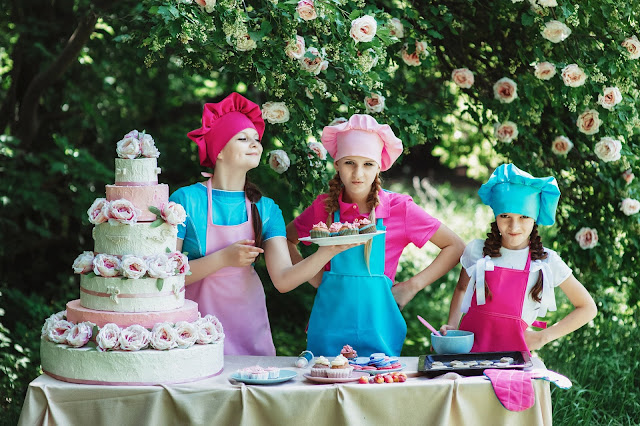 people, cakes, baker, kids