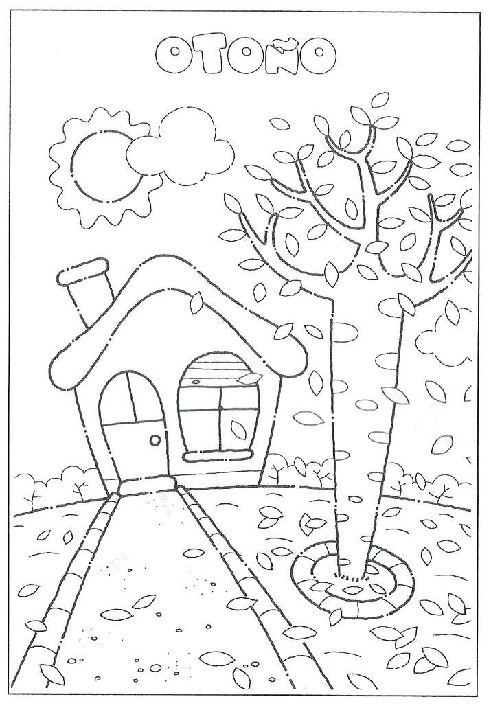 Dibujos De Otoño Para Colorear Dibujos Colorear