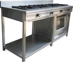 Cocina industrial con horno incorporado y salpicadero - Utensilios de cocina industrial ...