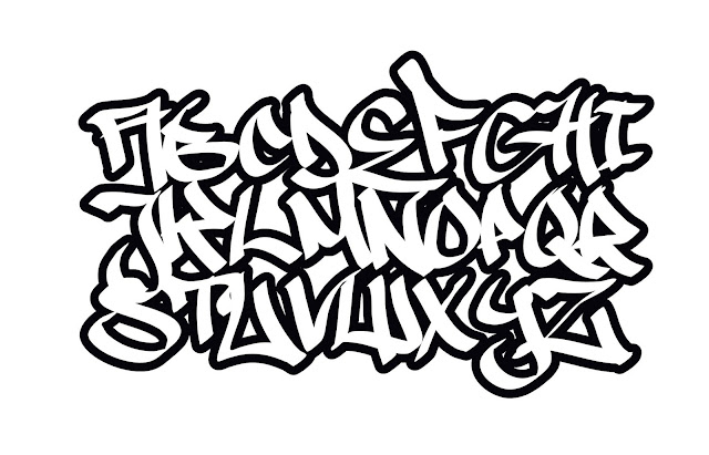 Graffiti alphabet font, graffiti abc, graffiti letters