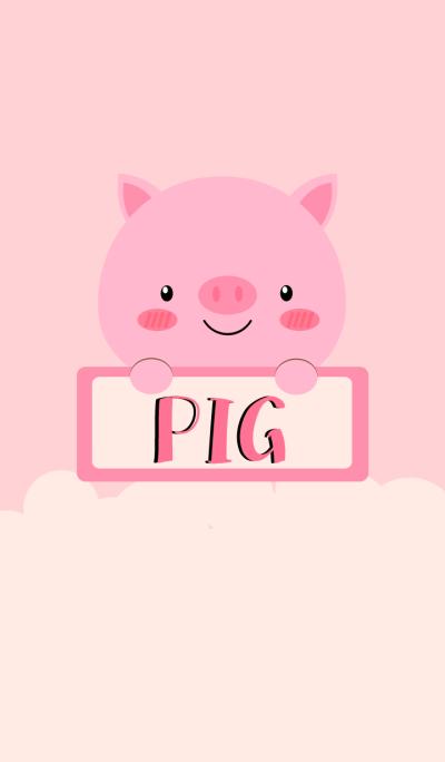 Simple Cute Love Pig Theme