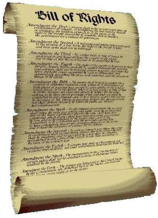 American History: The first ten amendments to the ...