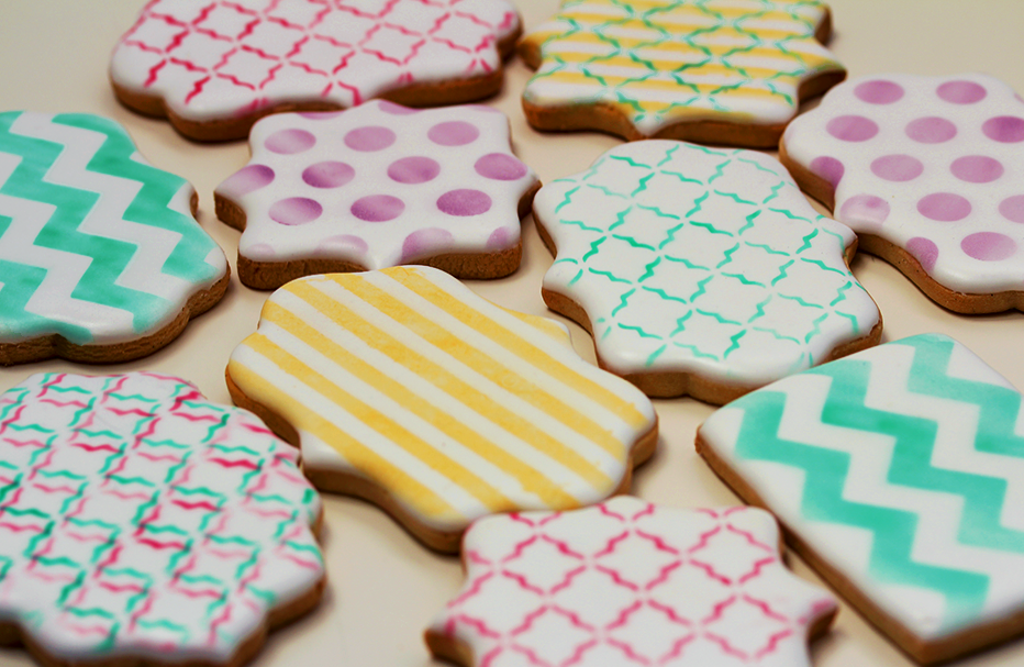 Galletas decoradas esténcil y aerógrafo