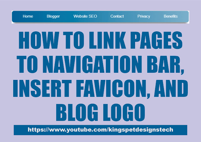 How to Link Pages to Nav Bar, Insert Favicon, and Blog Logo